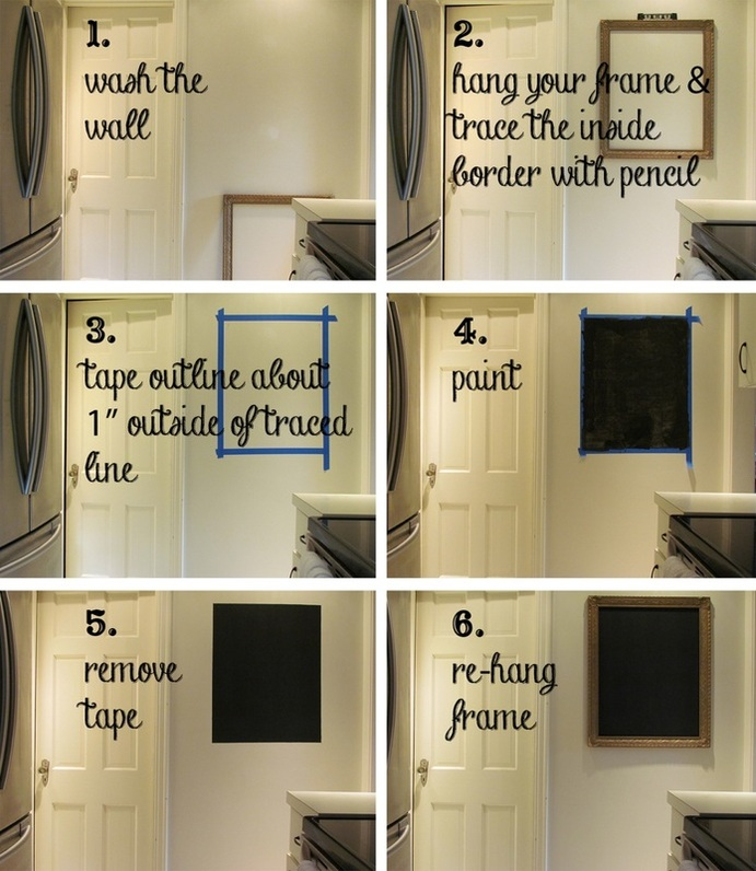 chalkboard wall step-by-step